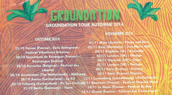 Dates concert Groundation